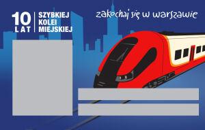 Karta miejska na 10-lecie SKM-ki