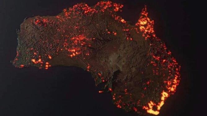 Pożary trawią kolejne części Australii. Spłonęło pół miliarda zwierząt i osiem milionów hektarów terenu
