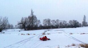 Akcja ratunkowa na lodzie (KP PSP w Ostrowi Mazowieckiej)