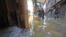 Aqua alta w Wenecji (PAP/EPA/ANDREA MEROLA)