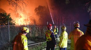 Pożar trawił australijski busz (PAP/EPA/BRENDAN ESPOSITO)