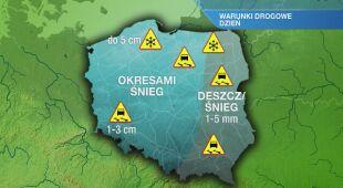 Warunki drogowe w niedzielę 24.01